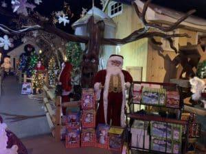 Santa Claus Display at the Christmas Loft