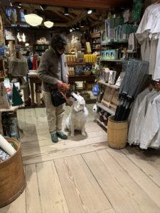 MaryAnn with Syby at the Vermont Country Store